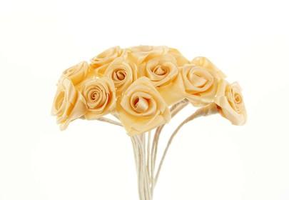 Bouquet de mini-rose satin par 24 pièces coloris Pêche
