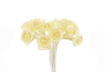 Bouquet de mini-rose satin par 24 pièces coloris Ivoire