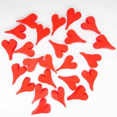 Mini coeur OASIS Rouge par 25 pièces
