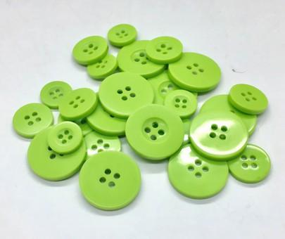 Boutons en plastique vert anis
