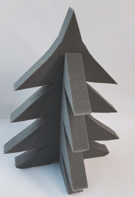 SAPIN MOUSSE OASIS RAINBOW GRIS ANTHRACITE