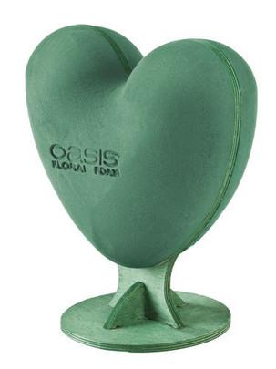 Coeur OASIS à garnir sur deux faces sur pied.