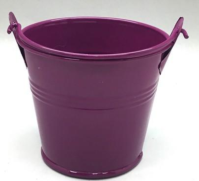 Seau zinc laqué Diamètre 8 cm couleur violet