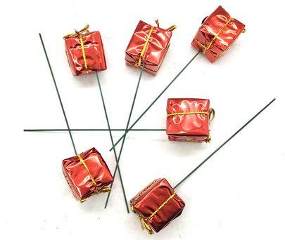 Cadeau sur pique ROUGE x 6