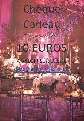 CHEQUE CADEAU DE 10 euros.