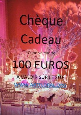 CHEQUE CADEAU DE 100 euros.