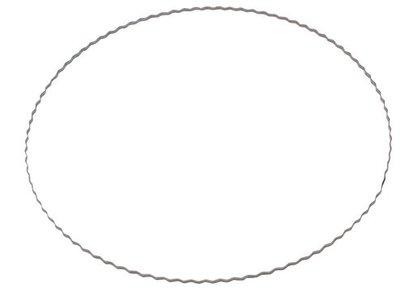 Base métal pour confection couronne diam 20 cm