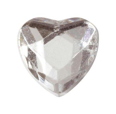 Petit cœur en diamant Transparent par 12 pièces