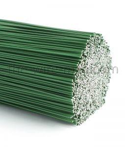Fil de fer laqué vert 0,80 x 30 cm moyen montage par 40 pièces N°3