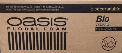 Carton de 20 Briques de mousse florale OASIS Bio