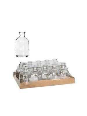 Mini bouteille en verre par 10 pièces.
