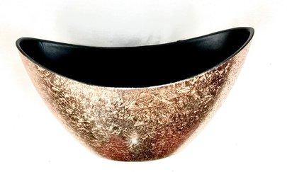 Coupe Ovale Brillante en Mélamine couleur Cuivre