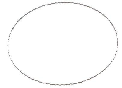 Base métal ondulée pour confection couronne diam 15 cm