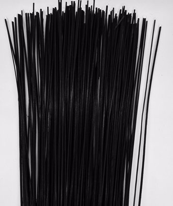Fil de fer laqué noir pour gros montage 1.40 mm x35 cm paquet de 500 gr
