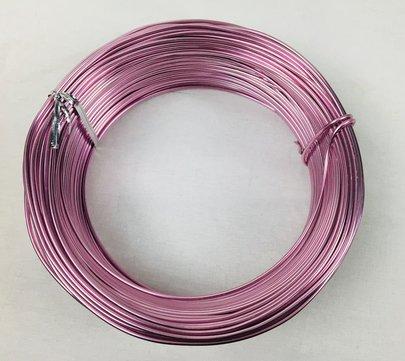 Fil alu déco métallique OASIS 2 mm coloris rose par 5 m