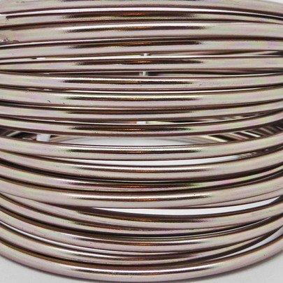 Fil alu déco métallique OASIS 2 mm coloris Vieux Rose.