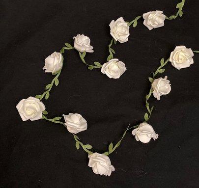 Guirlande de Roses Blanche Artificielle.