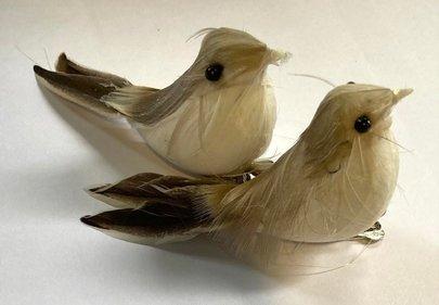 Petits Oiseaux sur Clip Métal x 2
