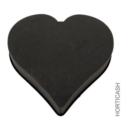 Grand Coeur Noir OASIS pour Fleurs Fraiches 50 cm