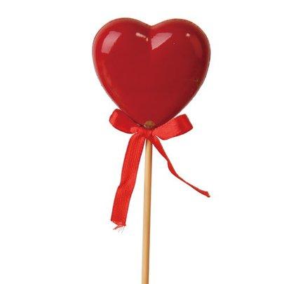 Coeur sur pique Rouge Laqué x 4