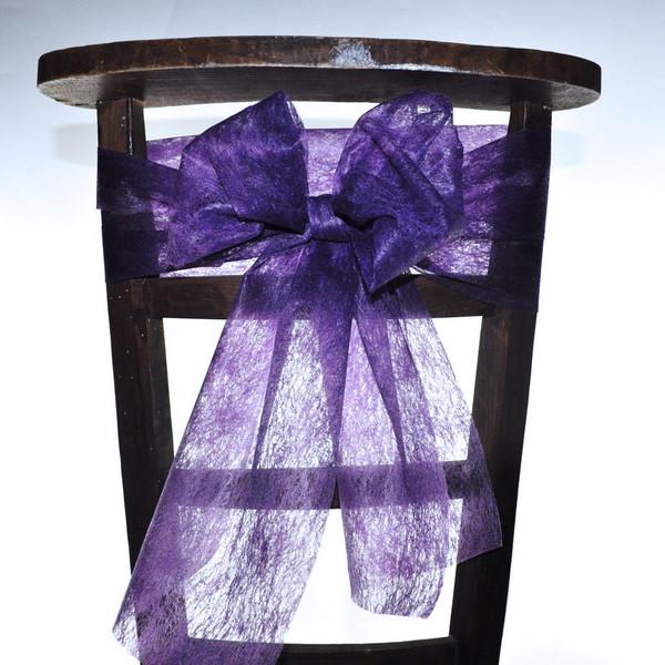 ruban pour noeud de chaise couleur lilas mat riel d 39 art floral et conseils pour la d coration. Black Bedroom Furniture Sets. Home Design Ideas