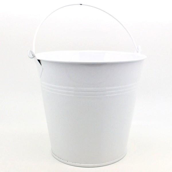 vase en zinc seau zinc laqu gm couleur blanc mat riel. Black Bedroom Furniture Sets. Home Design Ideas