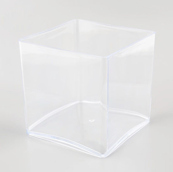vase cube plexiglas cristal 15 x 15 cm mat riel d 39 art floral et conseils pour la d coration. Black Bedroom Furniture Sets. Home Design Ideas