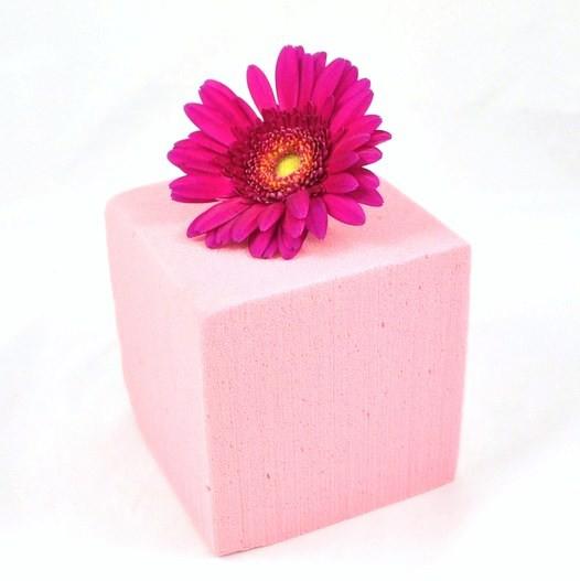 mousse florale oasis couleur cube oasis couleur rose tendre mat riel d 39 art floral et. Black Bedroom Furniture Sets. Home Design Ideas